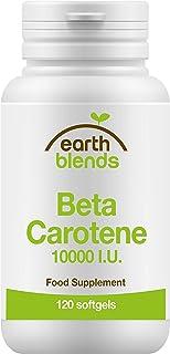 Earth Blends - Betacaroteno 10000 UI. visión saludable. 120 cápsulas blandas. para adultos