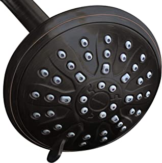 ShowerMaxx, Luxury Spa Series, 3 Spray Settings 4 inch Adjustable High Pressure Shower Head, MAXX-imize Your Shower with Easy-to-Remove Flow Restrictor Showerhead, Oil Rubbed Bronze Finish