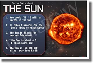 5 Cool Facts About the Sun - NEW Astronomy Science Poster