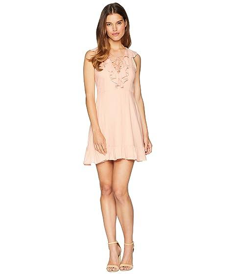 JACK BY BB DAKOTA Helen Dobby Dress With Tassel Ties, Coral Pink