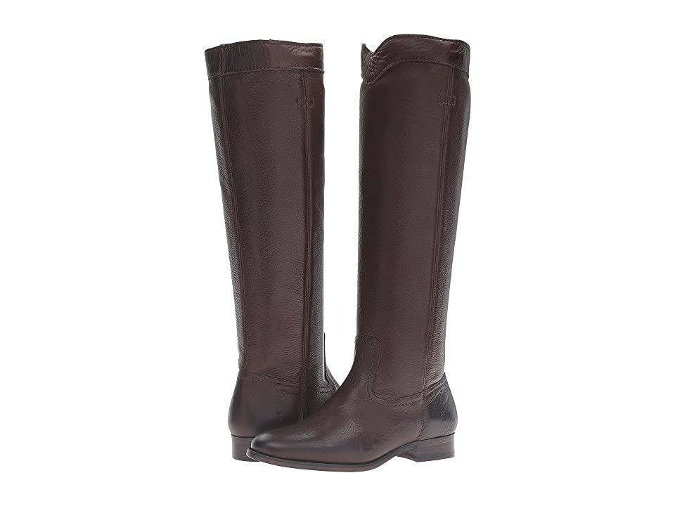 Frye Cara Roper Tall (Chocolate Soft Pebbled Full Grain) Women