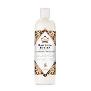 Nubian Heritage Body Lotion for Dry Skin, Raw Shea Butter, Paraben Free Body Lotion 13 Oz