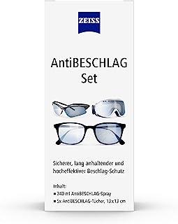 ZEISS Anti-condensspray met 240 ml inhoud inclusief 5 x anti-condensdoeken voor een langdurige bescherming tegen beslag, o...