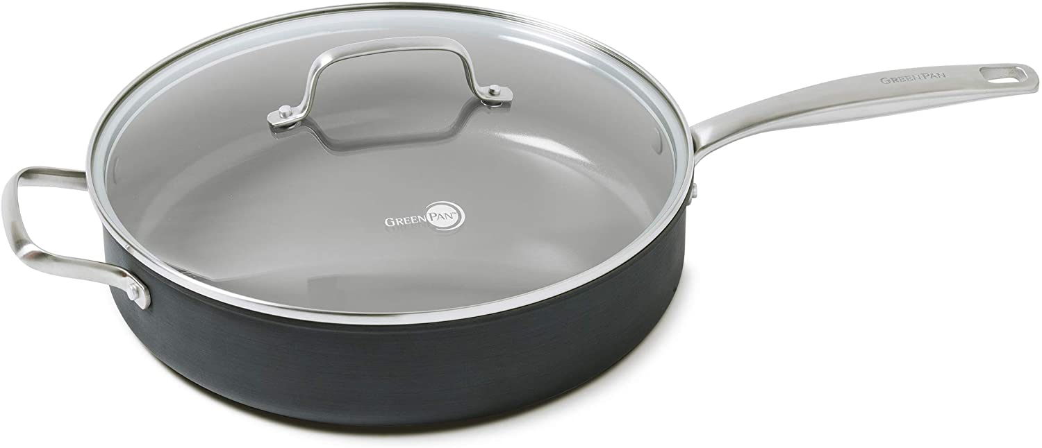 Manufacturer direct delivery GreenPan Chatham Healthy Ceramic Direct stock discount Nonstick Quart Gr Sauce 5 Pan