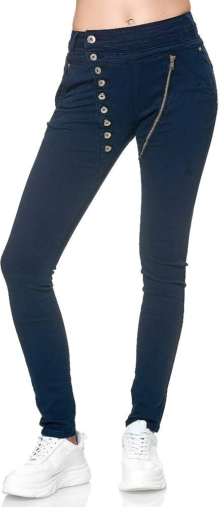 Elara jeans per donna 98% cotone 2% elastan C613K-15/F15C