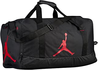 Air Jordan Jumpman Duffel Sports Gym Bag Black/Red 8A1913 Wet/Dry Pocket Water Resistant