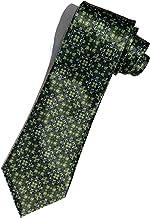 STEFANO RICCI(ステファノリッチ) ネクタイ 高級 ブランド イタリア プリントタイ 御洒落 メンズ 紳士服 グリーン ネイビー 9.5cm