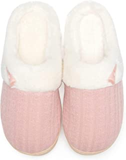 Women's Slip on Fuzzy Slippers Memory Foam House Slippers...