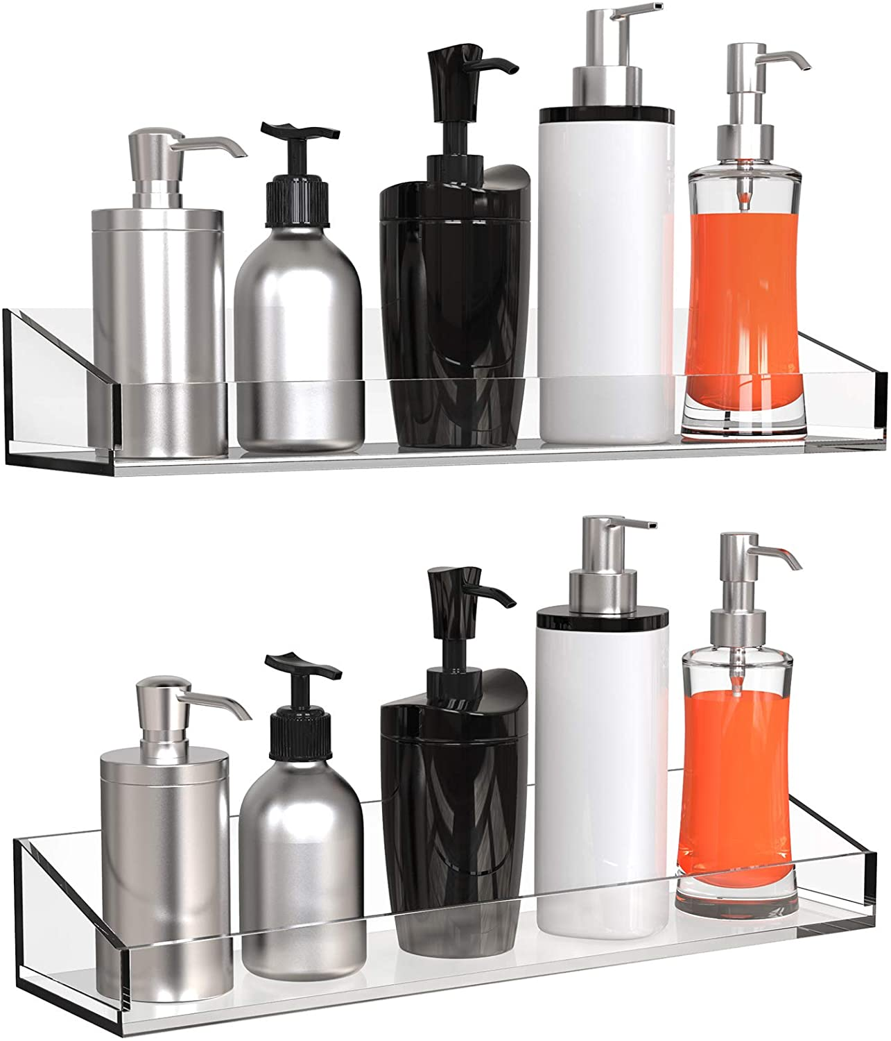 Vdomus Acrylic Sales results No. 1 Bathroom Shelves Wall Drilling no Thick Mounted Department store