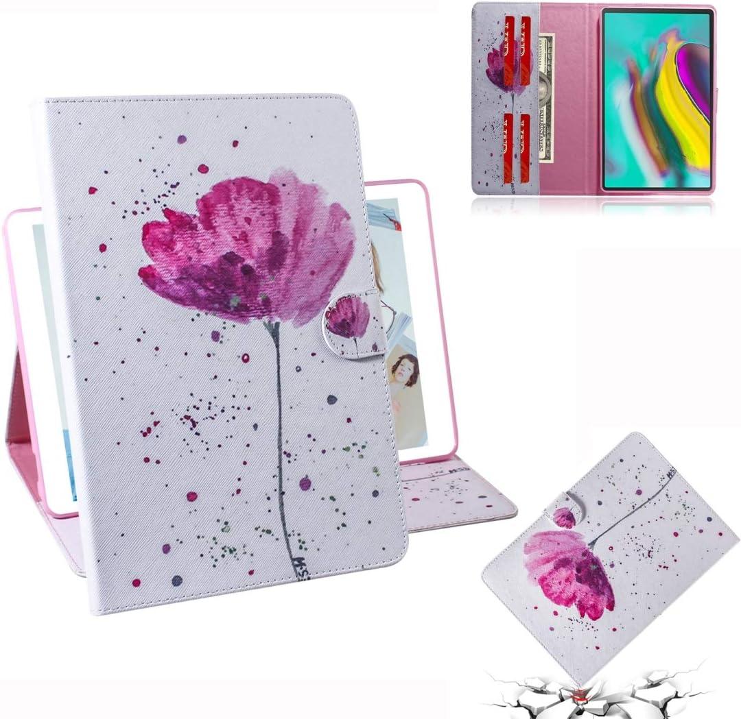 Tablet Cheap bargain Cases Great Spasm price Purple Orchids Horizontal Pattern Flip Leathe