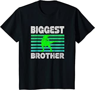 Kids Biggest Brother T-Shirt - Big Brother To Be Dinosaur Gift