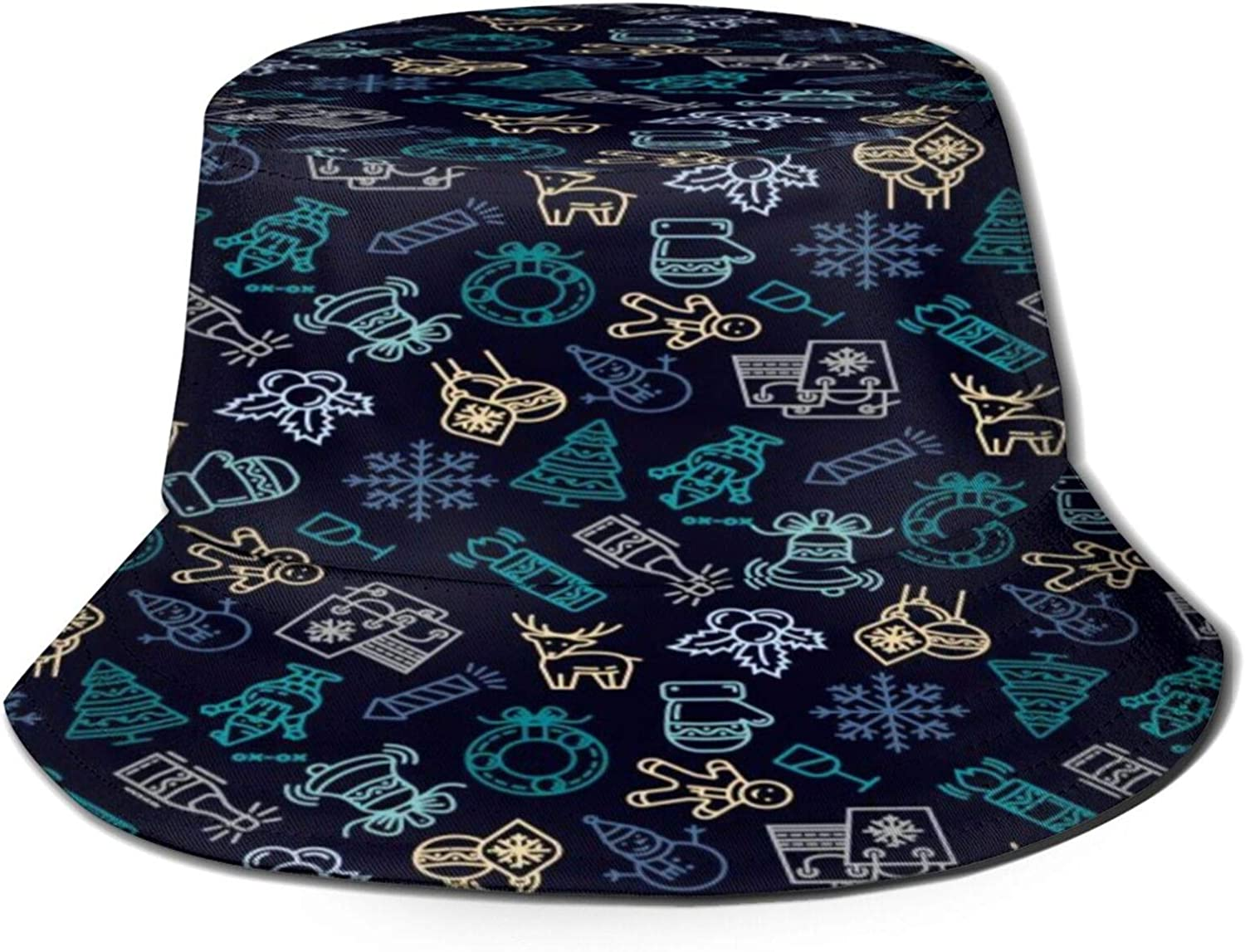 New Year Pattern Superior with Snowman Bucket Summer Hat All stores are sold P Sun Unisex
