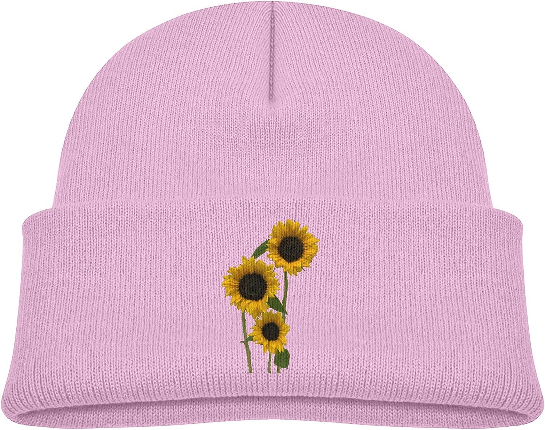 chenhe Sunflower Children's Knitted Hat Warm Beanie Caps Boys and Girls Under 3 Years Old Soft Warm Knit Caps