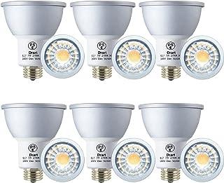 Drart LED電球 E17 ハロゲン電球 65W相当 7W 650LM LED スポットライト 調光対応 省エネ PSE認証 電球色 (6個セット)