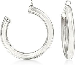 Ross-Simons 14kt White Gold Hoop Earring Jackets For Women 1.4 Grams. 7/8 inches