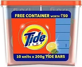 Tide Blue/White Detergent Bar Soap, 2 kg + Canister Free