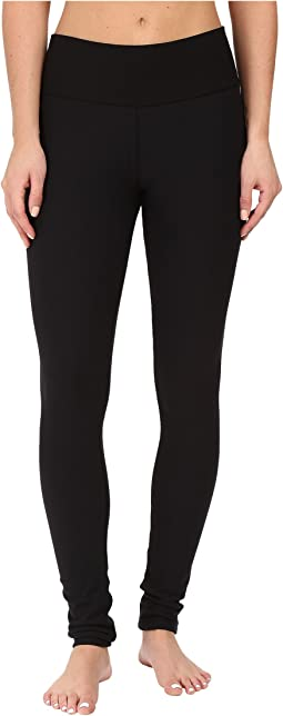 Plush - Fleece-Lined Cotton Yoga Leggings with Hidden Pocket