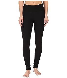 Fleece-Lined Cotton Yoga Leggings with Hidden Pocket