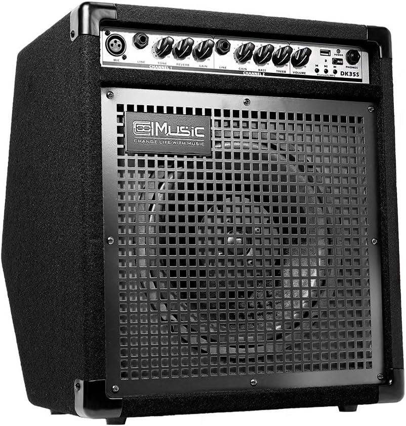 Coolmusic DK-35S 50W Amplificatore per monitor personale Bluetooth Amplificatore per batteria elettrica Altoparlante per tastiera PA Workstation