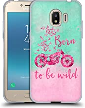 Official LebensArt Born to Be Wild Typography Soft Gel Case Compatible for Samsung Galaxy J2 Pro (2018)