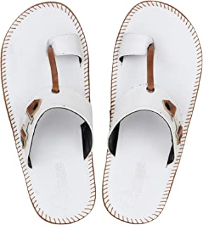 Emosis Men's Slipper Cum Sandal - Latest & Stylish Synthetic Leather - for Outdoor Formal Office Casual Ethnic Daily Use - Available in Tan Brown Black Beige White Blue Color - 0315M
