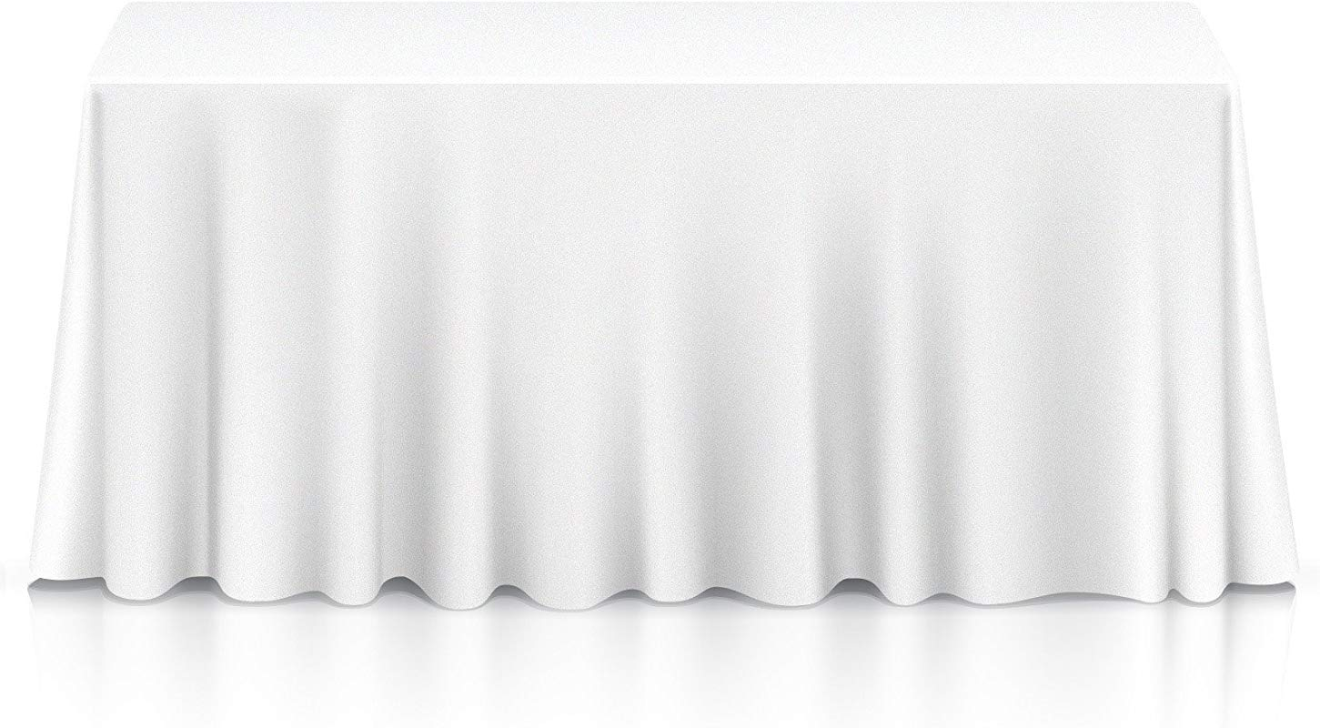 Lann S Linens 20 Premium 90 X 156 Tablecloths For Wedding Banquet Restaurant Rectangular Polyester Fabric Table Cloths White