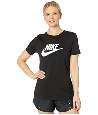 Nike Sportswear Tee Essential Icon Futura (Black/White) Women