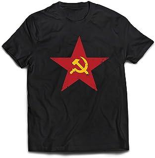 Symbole du prol/étariat socialiste lepni.me T-Shirt pour Hommes URSS СССР Marteau et Faucille