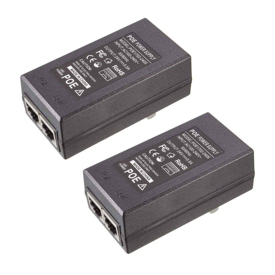 uxcell 2pcs 24v 0.5a Poe Max 75% OFF Large discharge sale Ethern Power Injector Supply Over