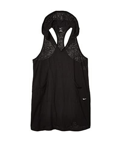 Nike Plus Size Geo Cover-Up Hooded Dress (Black) Women