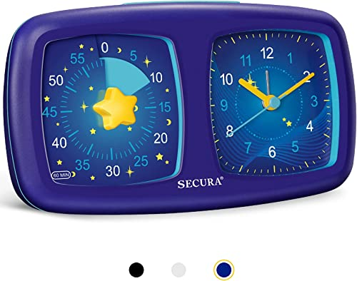 new arrival Secura wholesale 2 in 1 Visual Timer/Alarm Clock, 60-Minute new arrival Silent Study Timer & Table Clock, Time Management Countdown Tool for Kids, Adults, and Teachers (Starry Sky) online
