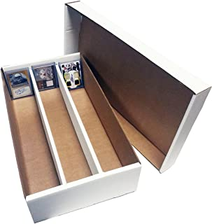 (2) SUPER Shoe 3 Row Storage Box (3000 Ct.) - Corrugated Cardboard Storage Box - Baseball,Football, Basketball, Hockey, Nascar, Sportscards, Gaming & Trading Cards Collecting Supplies by MAX PRO