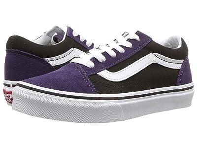 Vans Kids Old Skool (Little Kid/Big Kid) ((Suede) Mysterioso/Black) Boys Shoes
