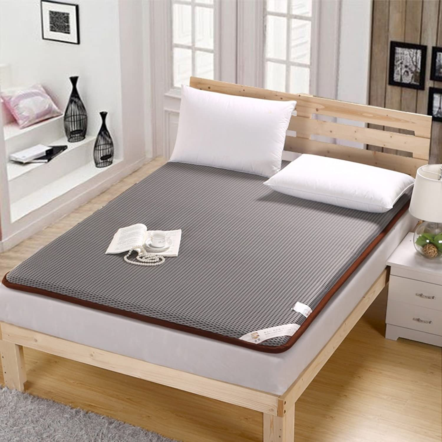 Non-Slip Breathable Mattress,Thicken Double Sleeping Pad,Tatami Foldable Dormitory Mat-A 180x200cm(71x79inch)