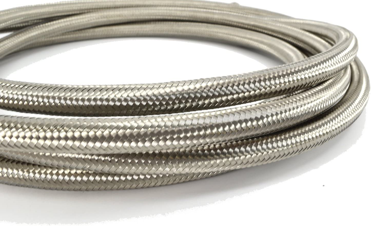 Oil 10AN Stainless Braided Hose for Fuel Coolant and Air 20 Feet Kraken Automotive