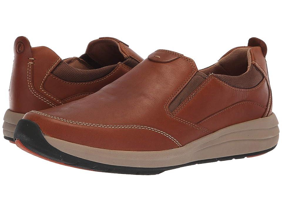 Clarks Un Coast Walk (Dark Tan Leather) Men