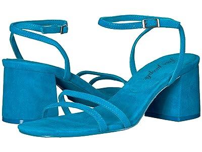 Free People Gabby Block Heel (Blue) Women