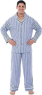Men's Lightweight Button Down Pajama Set, Long Cotton Pjs