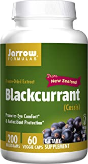 Jarrow Formulas Black Currant Freeze-Dried Extract, Promotes Eye Comfort & Antioxidant Protection, 200 mg, 60 Capsules