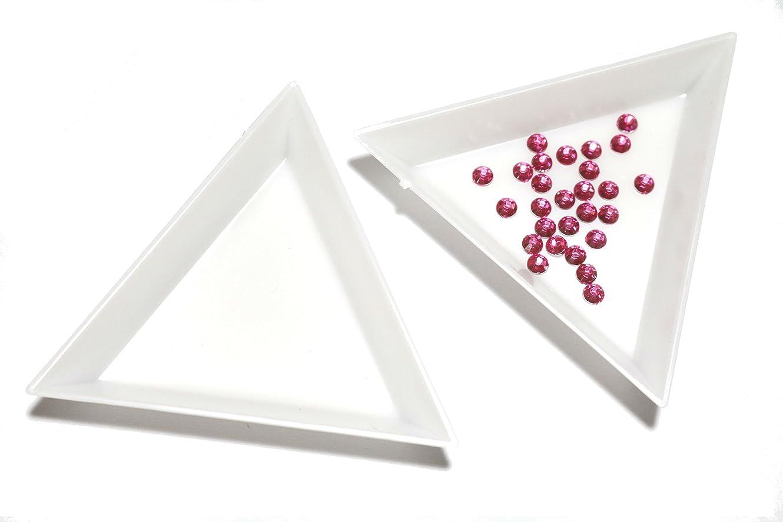メロドラマティック鎮静剤削除する【jewel】三角トレイ 三個セット ラインストーン ビーズ 白 ネイル デコ用品