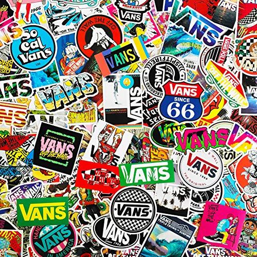 M VANS Skateboarding Stickers - Vans Stickers - Vinyl Matte Stickers - Bundle of Five Assorted Stickers