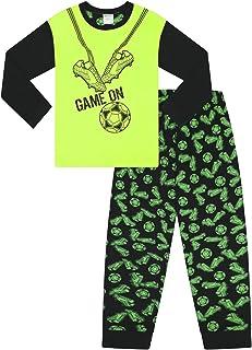 Pigiama lungo in cotone per ragazzi e ragazze motivo con controller di videogiochi e la scritta Player 1 The PyjamaFactory colore: verde