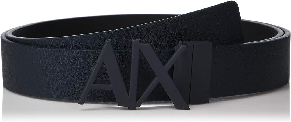 Armani exchange cintura uomo everyday logo belt 100% pelle 951017CC505