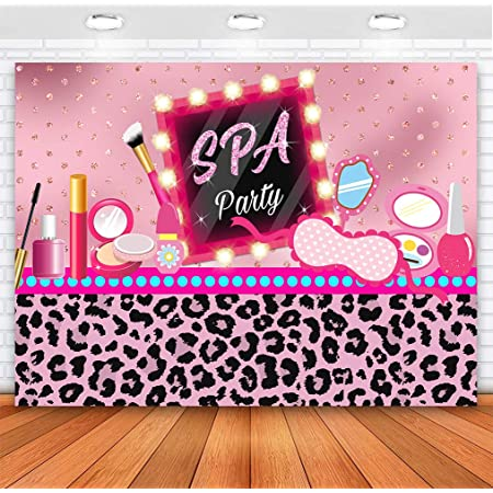 Spa Day Party Backdrop for Glamour Girl Black and White Stripe Picture Frame Background 7x5ft Photo Booth Banner for Cake Table Supplies LSVV1122