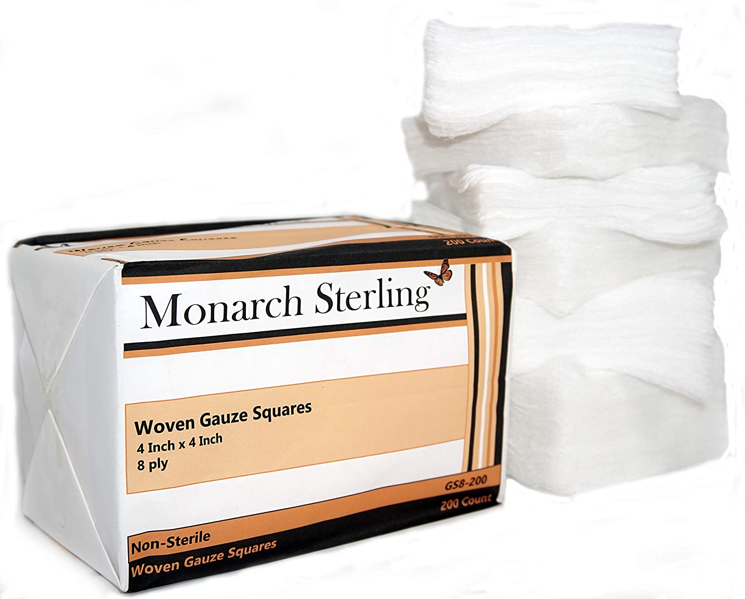 Monarch Factory outlet Sterling 100% Cotton Non-Sterile Woven Max 80% OFF inch 4 Gauz 8 ply