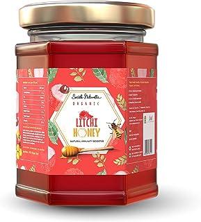 Societe Naturelle - Lychee Organic Honey - 340gms / Natural Immune Booster / Certified Honey / Pure Raw Unpasteurized Unpr...