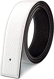 Vatee's Reversible Genuine Leather Belts without Buckle For Men/Women Replacement Belt Strap 38mm/34mm/29mm Wide