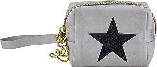 Convenient Durable Grey Star 4 x 3 Washable Paper Wristlet Mini Pouch Handbag