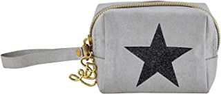 Convenient Durable Grey Star 4 x 3 Washable Paper Wristlet Mini Pouch Handbag