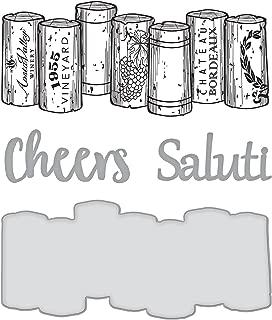 Spellbinders Wine Corks Stamp & Die Set
